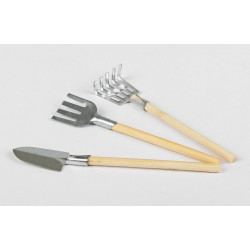 Набор инструментов №3 (вилы, грабли, лопата) 13см SL