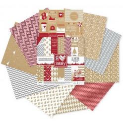 Я люблю зиму, набор двусторонней бумаги 30,5*30,5см 12листов 180г/м АртУзор