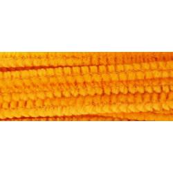 Оранжевый, синель-проволока (шенил) 6мм*30см 30шт