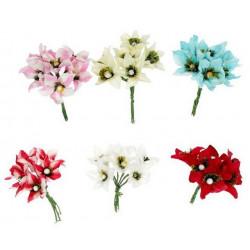 """Ассорти, декоративные элементы """"Цветы Бугенвиллия"""", диаметр цветка 3,5см, 6шт"""
