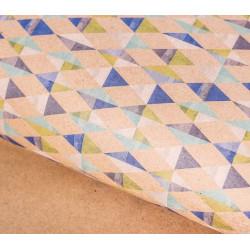 Песочные ромбы, крафт бумага упаковочная 50х70см SL