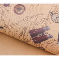 Карта странствий, крафт бумага упаковочная 50х70см SL