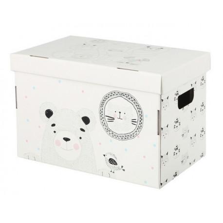 Мои игрушки, коробка складная 37х22х25см гофрокартон АртУзор