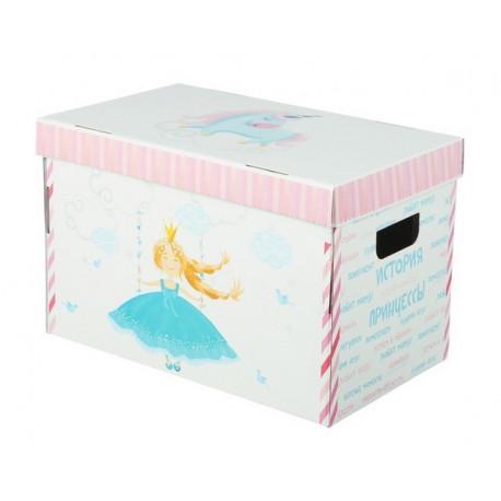 История принцессы, коробка складная 37х22х25см гофрокартон АртУзор
