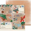 Новогодняя почта, двусторонняя бумага для скрапбукинга 30,5*30,5см 180г/м АртУзор