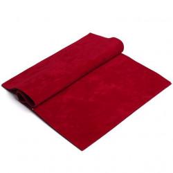 Темно-красный, искуственная двусторонняя замша 20х30(±1см)