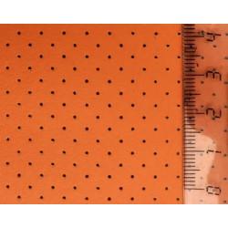 Оранжевый, кожа искусственная с перфорацией 20х30(±1см) толщина 0,85мм