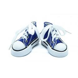 Кеды синие на шнурках, длина стопы 7,5см высота 4см. Кукольная обувь