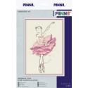 Балерина.Роза, набор для вышивания крестиком, 14х22см, 7цветов Panna