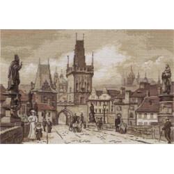 Прага.Карлов мост, набор для вышивания крестиком, 40х26см, 21цвет Panna