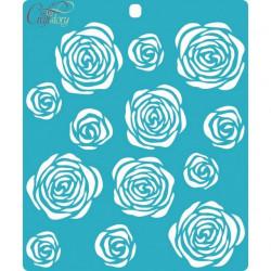 Розы, трафарет 15х18см толщина 0,5мм CraftStory