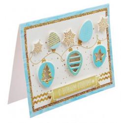 Новогодняя гирлянда, набор для создания открытки-шейкера 11х15см АртУзор