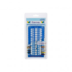 Органайзер для ниток мулине на 30 цветов+15 вкладышей, 17,5х10,5х2,5см, пластик+ЭВА