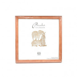 Бежевый, рамка деревянная со стеклом 15х15см