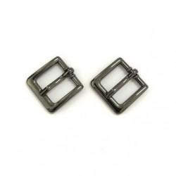 Пряжка мини черный никель металл 19х19мм 2шт. Magic4Toys