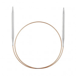 Спицы, круговые, супергладкие, никель, №3,25, 60см, Addi
