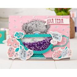 Люблю тебя! Цветы Me To You, набор для создания открытки-шейкер 15х10см АртУзор