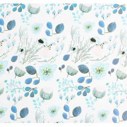 Цветы, глянцевая бумага упаковочная 50х70см SL