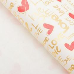 Love, глянцевая бумага упаковочная 50х70см SL