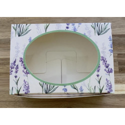 Прованс, коробка горизонтальная с окошком 15,5х11х4см