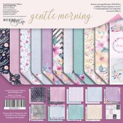 Gentle Morning, набор двусторонней бумаги 30х30см, 190гр/м, 10+1листов Scrapmir