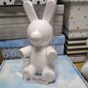 Заяц, пенопластовая заготовка для зайца из роз 28х15х12см