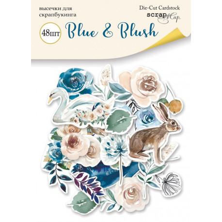 Blue&Blush, набор высечек для скрапбукинга 48шт. Scrapmir