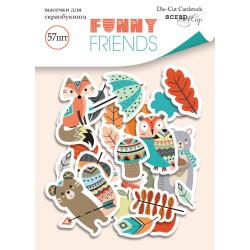 Funny Friends, набор высечек для скрапбукинга 57шт. Scrapmir