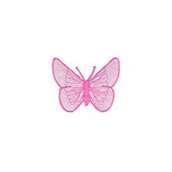 Бабочка розовая, 5х6.5см, аппликация на клеевой основе