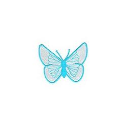 Бабочка белая, 5х6.5см, аппликация на клеевой основе