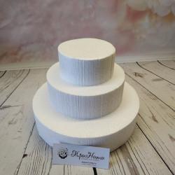 Основа для торта, флористическая основа 3 яруса- 21,15,10см, высота яруса 4,5см