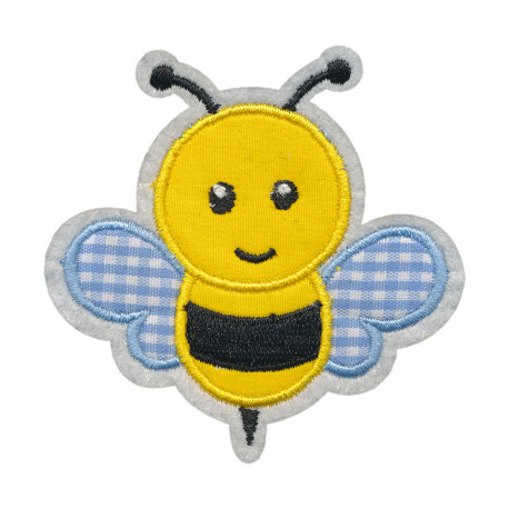 Забавная пчелка, 7х5см, аппликация на клеевой основе