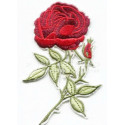 Роза красный, 10х6,5см, аппликация на клеевой основе