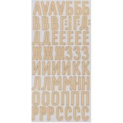 Букет невесты, чипборд-алфавит на клеевой основе 14х27.5 см АУ