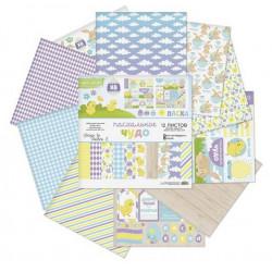 Пасхальное чудо, набор двусторонней бумаги для скрапбукинга 12л. 30.5x30.5см 180г/кв.м АртУзор