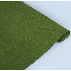 Черепахово-зеленый, креп(гофробумага), 2,5*0,5м