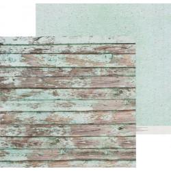 Мятные досочки, двусторонняя бумага для скрапбукинга 30,5*30,5см 180г/м АртУзор