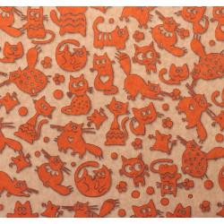 Кошки-мышки, крафт бумага упаковочная 70х100см SL