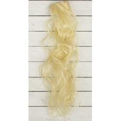 Блонд, кудри волосы для кукол 40см на трессе 50см цв.№613 SL