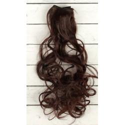Каштан, кудри волосы для кукол 40см на трессе 50см цв.№6А SL