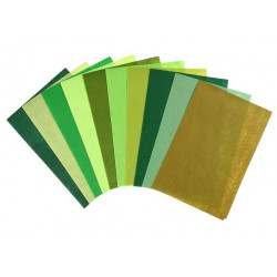 Оттенки зеленого, набор фетра 1мм 20х30см 10шт SL