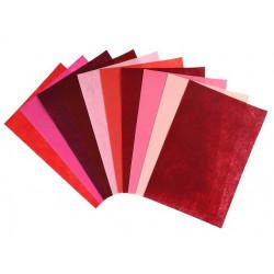Оттенки красного, набор фетра 1мм 20х30см 10шт SL