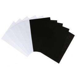 Белый и черный, набор фетра 1мм 20х30см 10штSL