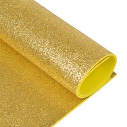 Светло-золотой, фоамиран глиттерный 2мм 20*30 см