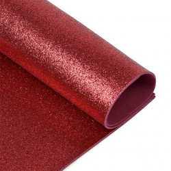 Темно-вишневый, фоамиран глиттерный 2мм 20*30 см