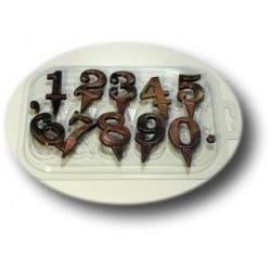 Цифры на ножке, пластиковая форма для шоколада МФ