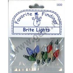 Сверкающие лампочки, пуговицы 17-18мм 10шт., Favorite Findings