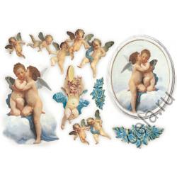 Ангелы и Купидоны, бумага рисовая для декупажа, 48х33см, 28 г/м?