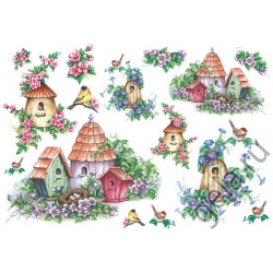 Птичьи гнезда, бумага рисовая для декупажа, 48х33см, 28 г/м?