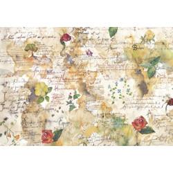 Цветы и поэзия, бумага рисовая для декупажа, 48х33см, 28 г/м?